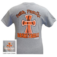 Girlie Girl Originals Faith Family Basketball Cross Sports Bright T Shirt