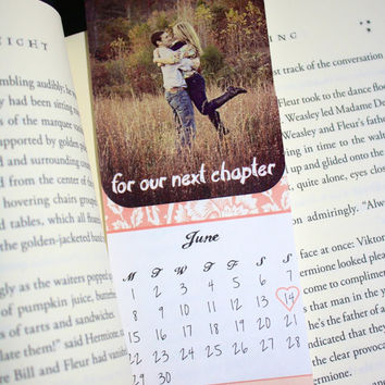 Calendar Printable Save the Date Bookmarks - Consider yourself booked! Custom colors available.