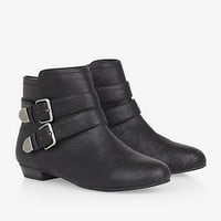 DOUBLE BUCKLE BOOTIE from EXPRESS