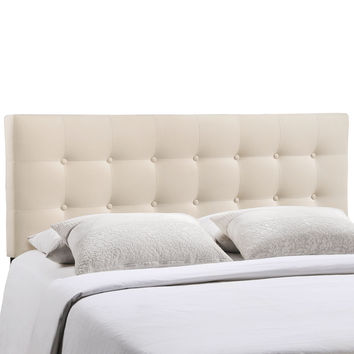 Emily Queen Fabric Headboard in Ivory