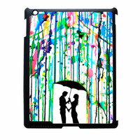 Love Song Romantic In The Rain Paint iPad 2 Case