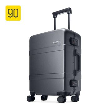 "Xiaomi Ecosystem 90FUN Upgraded Aluminum Framed Suitcase PC Spinner Wheel Carry on Hardshell Luggage,20""/24"", Grey/Red"