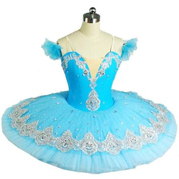 Hot!! New Children Professional Ballet Tutus Blue Ballet Adult Ballet Dance Clothes Girl Puff Skirt Costume Tutu Skirt Women