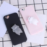 Phone Case for iPhone 6 6S 6 plus 3D Cute Soft Silicone Squishy Cat Fundas for iPhone 7 7 plus Cover Candy Color Coque-in Fitted Cases from Cellphones & Telecommunications on Aliexpress.com | Alibaba Group