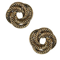 Gold textured knot studs - Earrings - Jewellery - Accessories - Dorothy Perkins