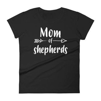Mom of Shepherd t-shirt - gifts for German shepherd lovers owners, German shepherd mom gift, shepherd mom, German shepherd dog