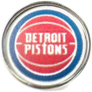 NBA Basketball Logo Detroit Pistons 18MM - 20MM Fashion Snap Jewelry Snap Charm New Item