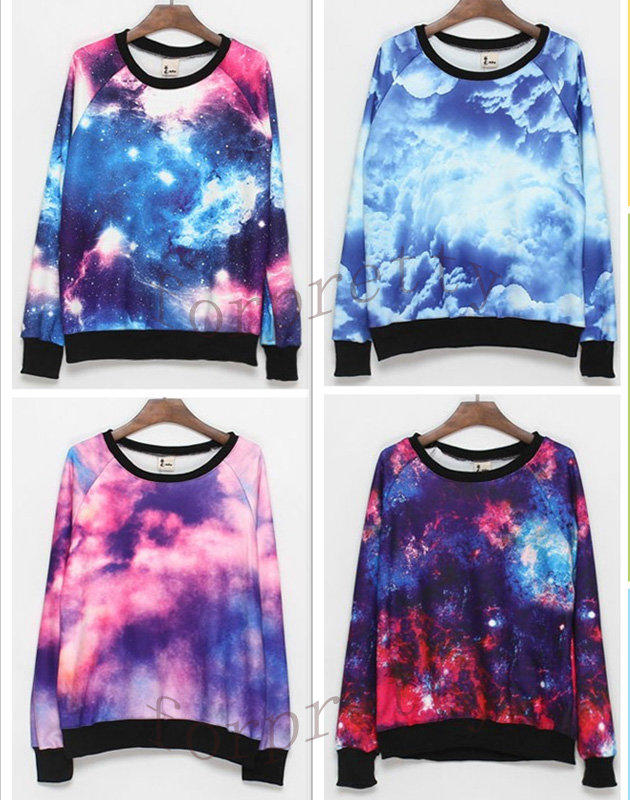 Women 39 s galaxy space starry print flannel from 2forpretty for Space flannel