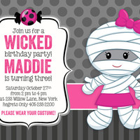 Halloween Invitation, Halloween Party Invitation, Halloween Birthday Invitation, Kids Birthday Party Invitations, Birthday invitation, 5x7