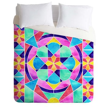 Jacqueline Maldonado Watercolor Geometric 1 Duvet Cover