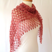 Lovely Sweet Burgundy Shawl