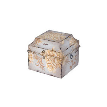 Large Decorative Square Box in Blue Gray Floral - Layla Grayce