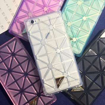 The new lozenge iPhone6 laser character phone case for iphone 5 5s SE 6 6s 6 plus 6s plus + Nice gift box 072702