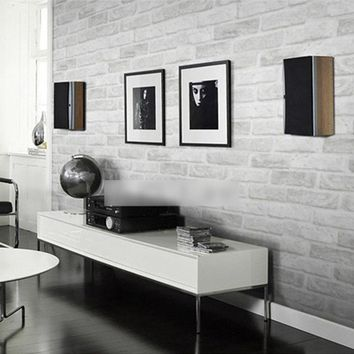 Grey White Brick Pattern Wallpaper For Walls Roll 3D Living Room Bedroom Stone Brick Wall Paper Home Decor Papel De Parede 3D