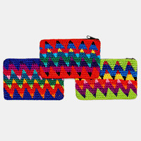 Unique Batik Zig Zag Coin Purse - Urban Outfitters