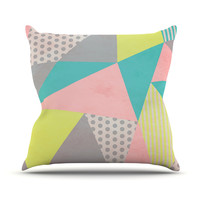 "Louise Machado ""Geometric Pastel"" Throw Pillow"