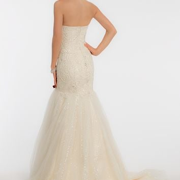 Heavily Beaded Wedding Dress from Camille La Vie and Group USA