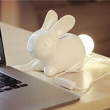 Rabbit Night Lamp With Piggy Bank