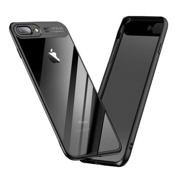 iPhone 7 Plus Case, iPhone 8 Plus Case, Shrimp Ultra Slim Shockproof Cover Case Anti-Scratch Fit Shell with Transparent Clear Backing for Apple iPhone 7 Plus/ iPhone 8 Plus-Black