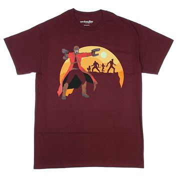 Guardians Of The Galaxy Star-Lord Sunset Mens T-shirt