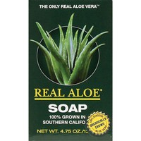 Real Aloe Inc. Aloe Vera Bar Soap 4.75 Oz