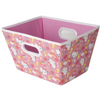 Hello Kitty Open Top Storage Bin with Handles and ID Badge Slot (Medium)