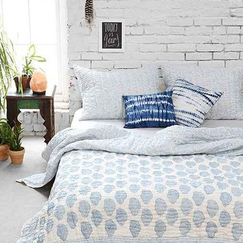 Magical Thinking Blue Paisley Quilt
