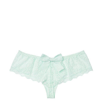 Lace & Dot Mesh Hipster Thong Panty - Dream Angels - vs