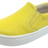 Old Soles Girl's & Boy's 6010 Dressy Hoff Yellow Leather Slip On Sneaker Shoe
