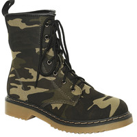 Camouflage Print Combat Boot | Shop Shoes at Wet Seal