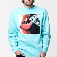 Diamond Supply Co Lips Crew Neck Sweatshirt - Mens Hoodie - Green