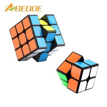ICIKU7Q ABEDOE Party Toys Cube PVC Sticker Block Puzzle Speed Magic Cube Learning&Educational Puzzle Cubo Magico Toys Party Gift