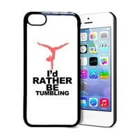 SudysAccessories I'd Rather Be Tumbling Gymnastics Thinshell Case Protective iPhone 5C Case