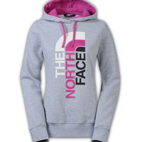 The North Face Trivert Logo Pullover Hoodie for Women in Heather Grey CZW4-DUD