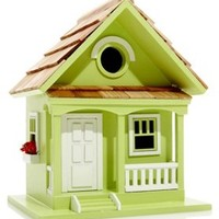 "9.5"" Key Lime Cottage Birdhouse, Feeders, Houses & Bird Baths"