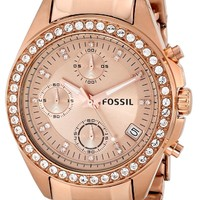 Fossil Women's ES3352 Decker Analog Display Analog Quartz Rose Gold Watch: Fossil: Amazon.ca: Watches