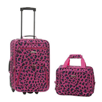 2 Pc Magentaleopard Luggage Set