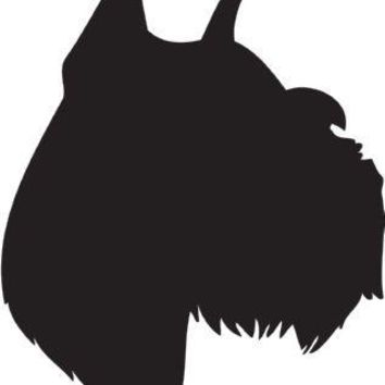 Miniature Schnauzer Silhouette Dog Puppy Breed Long Die Cut Vinyl Transfer Decal Sticker