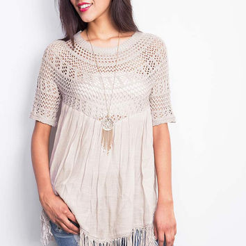 Fringe Dance Knit Top