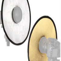 PRBR2 12 Inch Portable Round Camera Lens Beauty Reflector