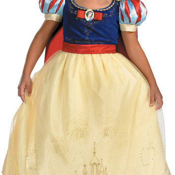 Disney Storybook Snow White Prestige Child-Toddler Costume | Small (4-6X)