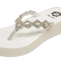 Yellow Box Bethany White Flip Flops