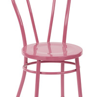 Office Star Odessa Metal Dining Chair with Backrest in Pastel Pink FInish - Ships Fully Assembled 2-Pack [OD2918A2-C216]