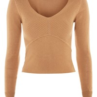 Ribbed V-Neck Top | Topshop