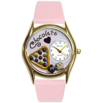 Chocolate Lover Watch Small Gold Style