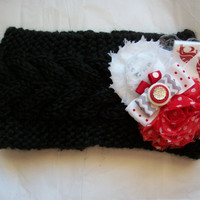 Women's Crochet Washington State University WSU WAZZU PAC 12 Ear Head Warmer Knit Headband