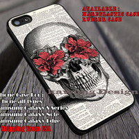 Skull Head Flowers iPhone 6s 6 6s+ 6plus Cases Samsung Galaxy s5 s6 Edge+ NOTE 5 4 3 #art ii