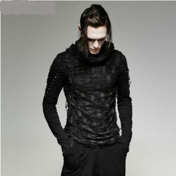 Men Gothic Long Sleeve t Shirt