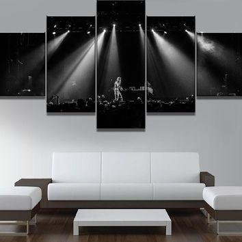 5 Piece Canvas Painting Lil Peep Music Poster Cuadros Canvas Wall Art Home Decor For Living Room Unique Gift Wall Picture