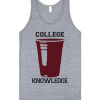 College Knowledge-Unisex Athletic Grey Tank